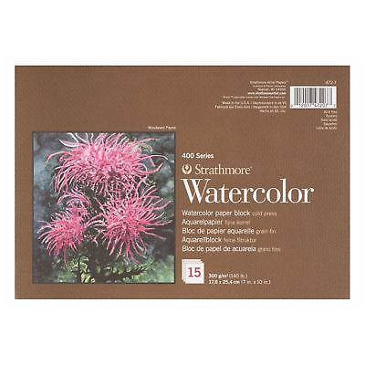 watercolour paper block artists painting pad 300gsm Strathmore 400