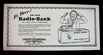 New Radio Bank With Image Liberty Central Trust Co Adv Ink Blotter St Louis Mo