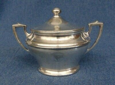United Fruit Steam Packet Ship International Silver Soldered Sugar Bowl Chiquita