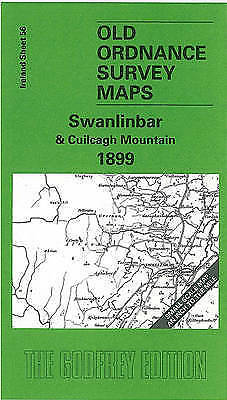 OLD ORDNANCE SURVEY MAP Swanlinbar & Cuilcagh Mountain 1899: Ireland Sheet 56