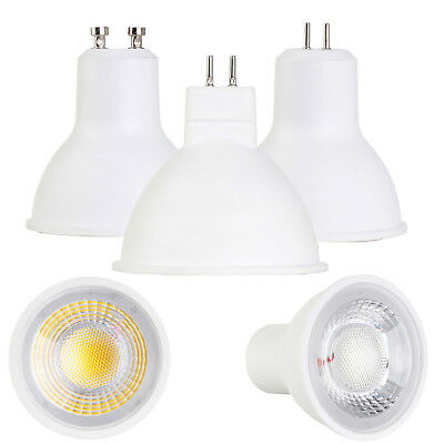LED Spotlight COB GU10 MR16 GU5.3 Base 5W 7W AC 110V 220V DC 12V Light Bulbs