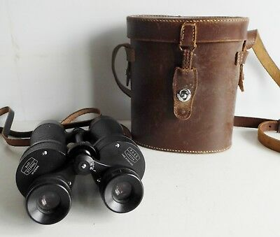 SUPERB OLD PAIR OF ROSS 8 x 30 STEPVUE MILITARY BINOCULARS - No. 30049 - CASED