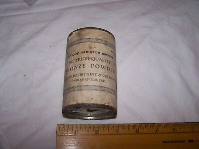 ANTIQUE RADIATOR BRONZE Powder Can INDIANAPOLIS PAINT & COLOR CO Indiana - Full