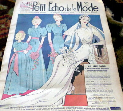 *VTG 1930s PARIS FASHION & SEWING PATTERN CATALOG LE PETIT ECHO de la MODE 1937