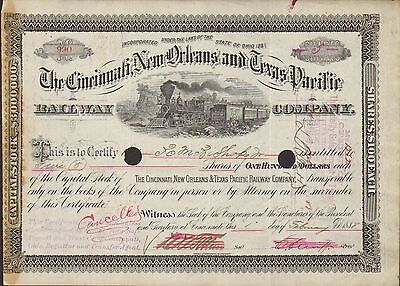 Cincinnati New Orleans Texas Pacific Ry 1888 Richard M. Bishop Alabama Southern