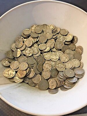 Huge Lot of 400 Partial Date Buffalo Nickels