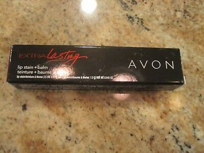 AVON Extra Lasting Lip Stain + Balm   ~~ READY RED