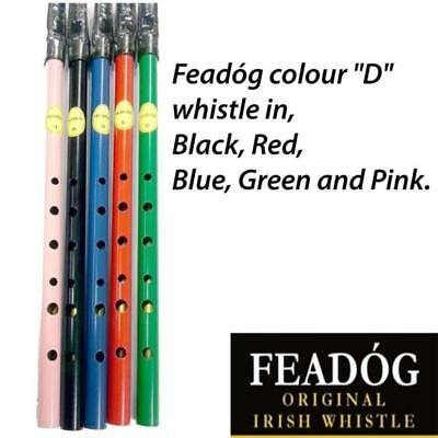 Feadog Irish Tin 'd' Whistles - Made In Ireland - Choice Of Colours Available