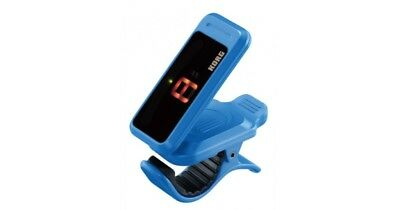 Korg Pitchclip Clip-On Chromatic Tuner - For Guitar Or Bass - Light Blue