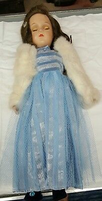 Vintage R&b Composition Doll 18In