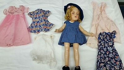 Vintage R&b Composition 13In Doll With Extra Clothes
