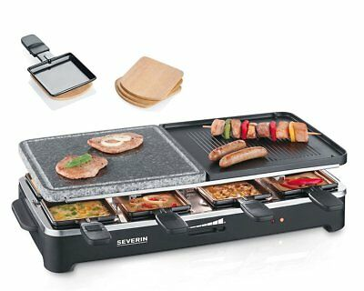 Severin Raclette-Partygrill mit Naturgrillstein 125 Jahre Edition Grill 1500W