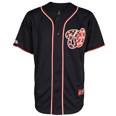 Washington Nationals Navy Officially Licenced MLB Jersey Small