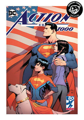 Action Comics #1000 Gleason DC Newbury Comics Exclusive Variant - Color