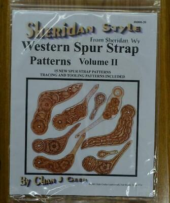 Leather craft Instructions Sheridan Style Western Spur Strap Patterns Volume 2