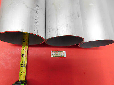 "3 Pieces 4-1/2"" OD x 1/8"" Wall 6061 T6 ALUMINUM Round Tube 21.55"" long"