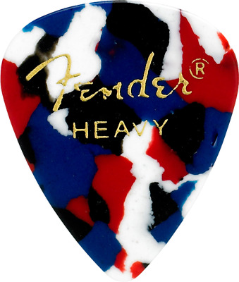 Fender 351 Classic Celluloid Guitar Picks 12-Pack - Confetti - Heavy