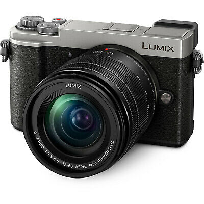 Panasonic Lumix DC-GX9 4K HD Wi-Fi Digital Camera & 12-60mm Lens Silver