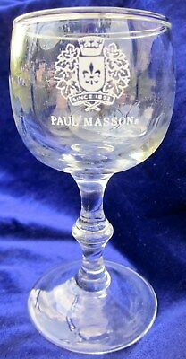 Paul Masson Vineyards 3oz souvenir Wine Glass/Goblet