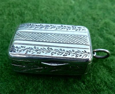 c19th DECORATED SILVER VINAIGRETTE, POSSIBLY BY WILLIAM ELLERBY - LONDON 1808