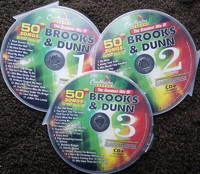 Brooks & Dunn 3 Cdg Country Set Chartbuster Karaoke 50 Songs Cd+G Music 5069