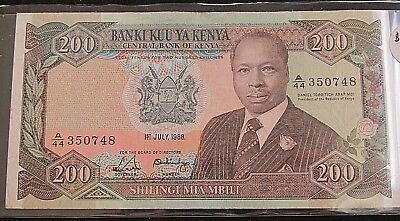 1988 200 Shilling Central Bank Of Kenya Note