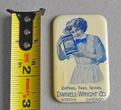 White House Coffee Dwinell Wright Chicago Boston advertising mirror lot bx4
