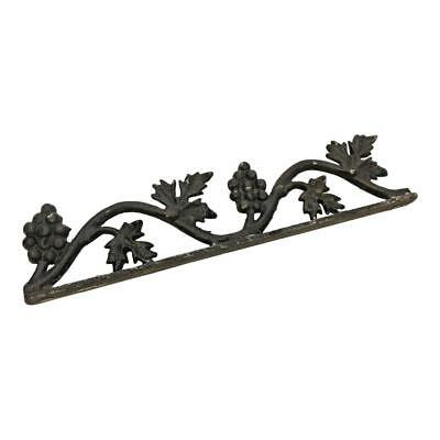 Vintage METAL FINIAL TOPPER black trim fence ornate trim architectural salvage 2