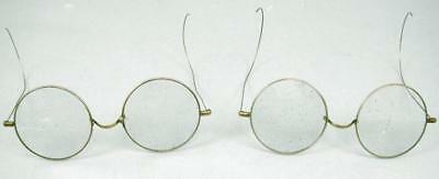 Lot of 2 Vintage Harry Potter Style Wire Glasses 1 Pair Has Crack Across Lens