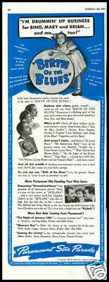 1941 vintage ad for movie Birth of the Blues