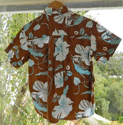 VINTAGEH & M L.O.G Hawaiian Tropical Surfy Retro Boy Shirt