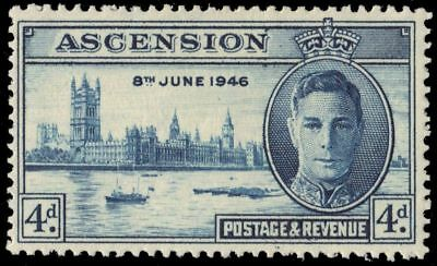 """ASCENSION 51 (SG49) - King George VI """"Peace-Victory"""" (pa95245)"""