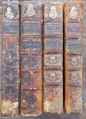 1752-1769 Lot Of 4 Antique French Books