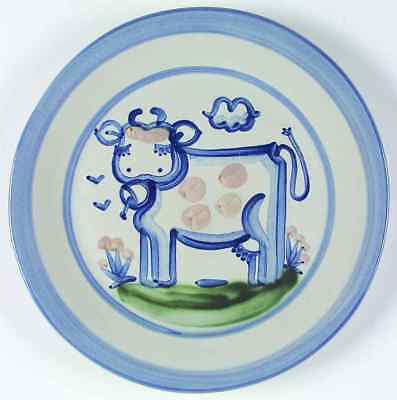 M A Hadley COUNTRY SCENE BLUE Cow Dinner Plate 5757454