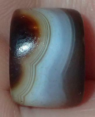 11mm Ancient Rare Dzi Agate Bead, 2000+ Years Old, #A8843