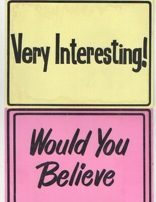 6 Different Oversized Humorous Postcards By Sign Posts 60'S/70'S