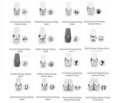 ImpressArt BABY CHILD Metal Stamps Hand Stamping Tool, Toy Designs, Baby Shower