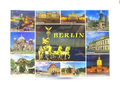 Berlin Foto Magnet 11er Collage alle Highlights Souvenir Germany