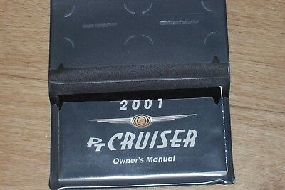 Owner's manual 2001 Chrysler PT Cruiser in black pouch