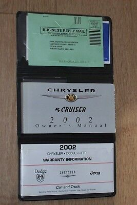 Owner's Manual and warranty info 2002 Chrysler PT Cruiser in black pouch