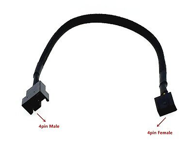 1x 4pin Female to 4pin Male PWM Connector Case Fan Extension Power Cable For PC