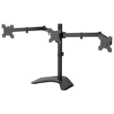 """Triple Arm Desk Mount Bracket Stand LCD LED Monitor Computer 13""""-27"""" Screen TV"""
