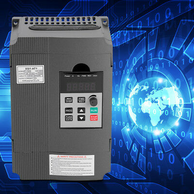 1.5kW 220V Single-phase to 3 phase Variable Frequency Drive VFD Speed Controller