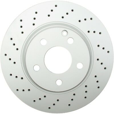 Front Drilled And Slotted G2 Brake Rotors 2PCS For 2003-2006 Kia Sorento