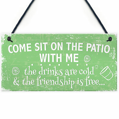 Come Sit Shabby Chic Hanging Wall Signs Garden Shed Plaques Alcohol Friend Gifts