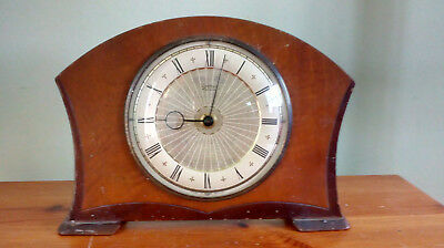 Vintage Smiths 30 hour Mantle Clock - Working