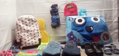 Boys & Girls Assorted Clothing Shoes Socks Sleepy Sack With Pillow Cleats Bag