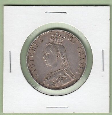 1887 Great Britain Double Florin Silver Coin - EF