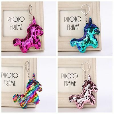 Mermaid Sequins Keychain Unicorn Keyring Bag Accessories Handbag Pendant