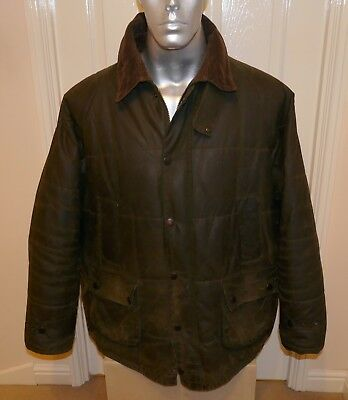 """Rare Barbour A846 """" Down Touch Bedale """" Wax Jacket,,mens Size Xl"""